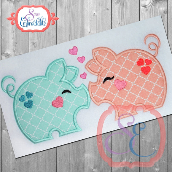 Pig Love Applique