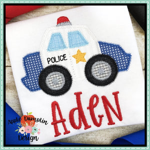 Police Car Zigzag Applique Design, applique
