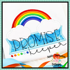 Promise Keeper Rainbow Satin Applique Design, applique