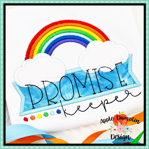 Promise Keeper Rainbow Satin Applique Design