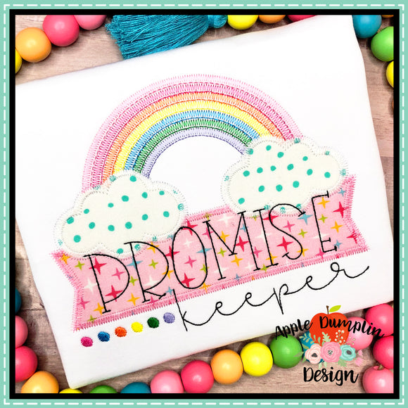 Promise Keeper Rainbow Zigzag Applique Design, applique