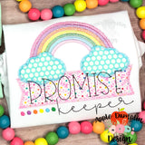 Promise Keeper Rainbow Zigzag Applique Design-Embroidery Boutique