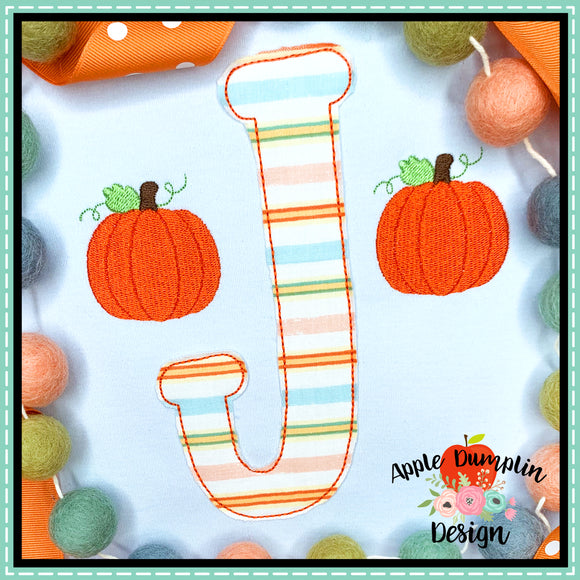 Pumpkin Mini Embroidery Design