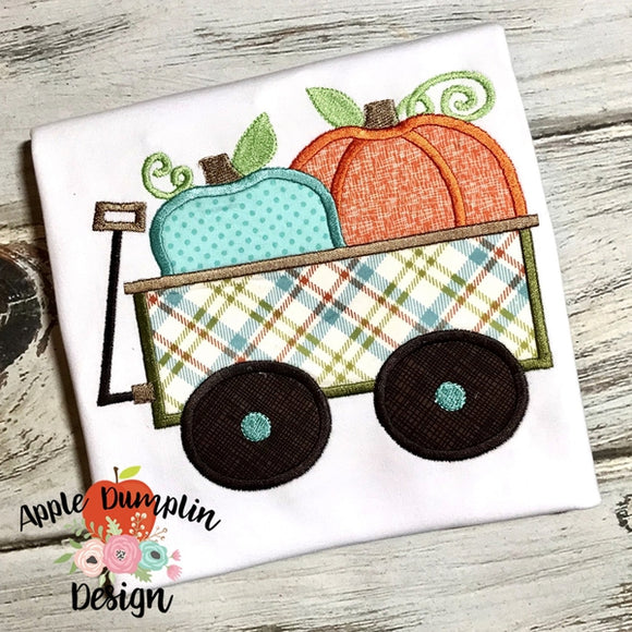 Pumpkin Wagon Applique Design - embroidery-boutique