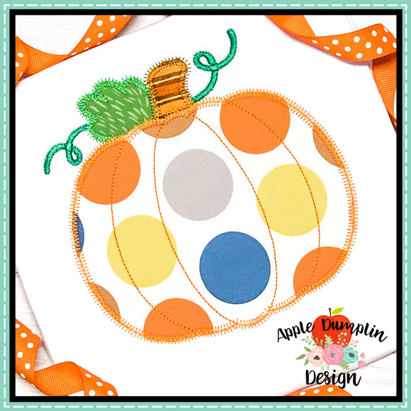 Pumpkin Zigzag Applique Design, Applique