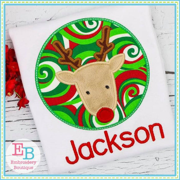 Reindeer Patch Applique - embroidery-boutique