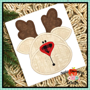 Reindeer Satin Applique Design, Applique