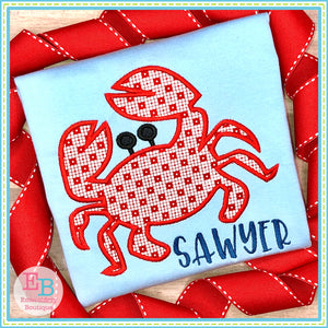 Crab Satin Applique, Applique