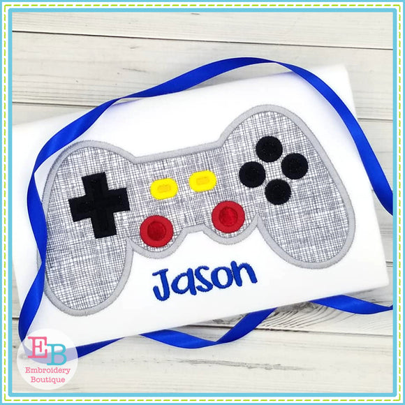 Video Game Controller Satin Applique, Applique