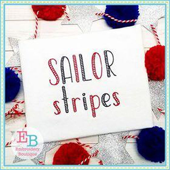 Sailor Stripes Embroidery Alphabet
