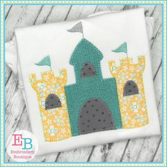 Sand Castle Blanket Stitch Applique, Applique
