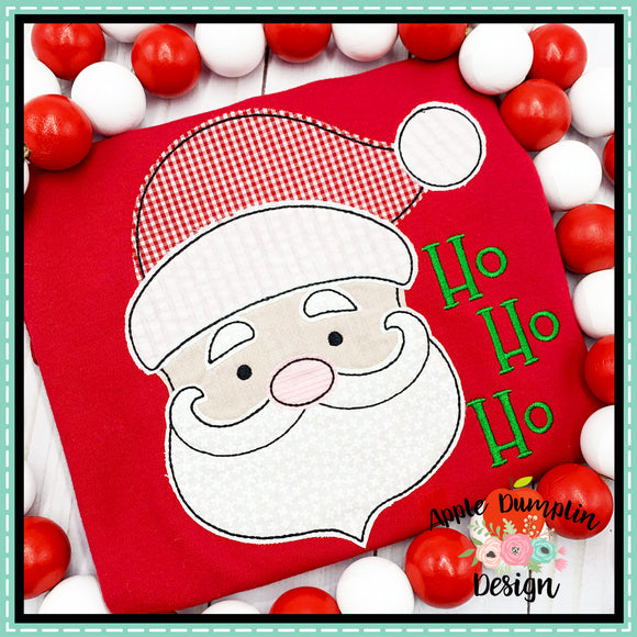 Santa Bean Stitch Applique Design, Applique