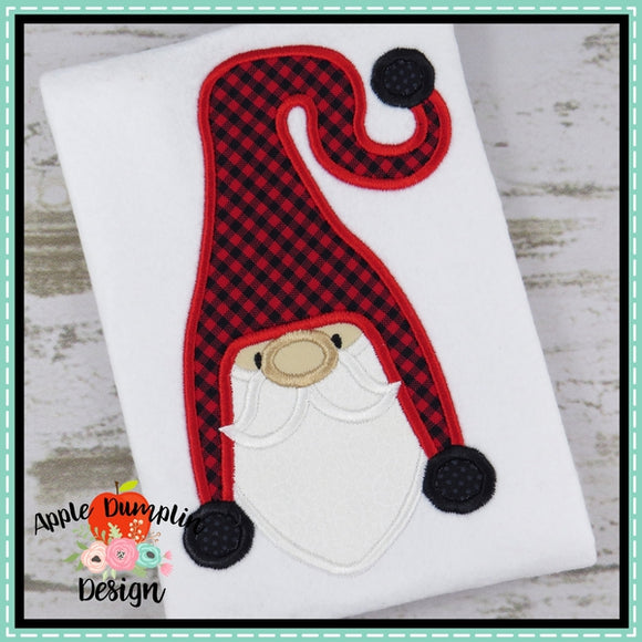 Santa Gnome Face with Toboggan Hat Applique Design - embroidery-boutique