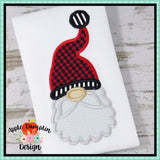 Santa Gnome Face Applique Design