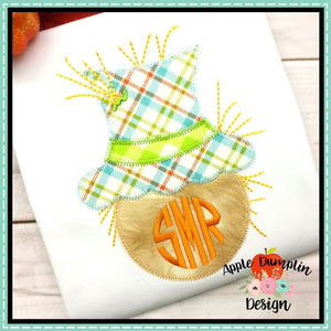 Scarecrow Head Zigzag Applique Design