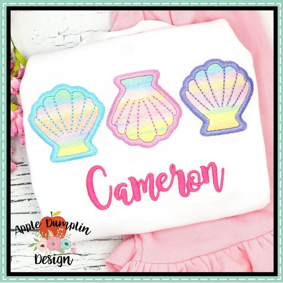 Sea Shell Trio Applique Design