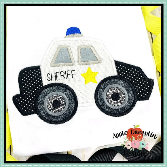 Sheriff Car Applique Design