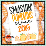 Smashin' Pumpkins Since Sketch Embroidery Design, Embroidery