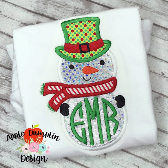 Snowman Applique Design - embroidery-boutique