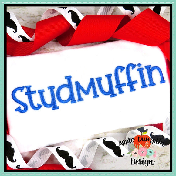 Studmuffin Embroidery Alphabet, Embroidery