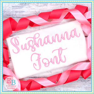 Sushanna Satin Embroidery Font-Embroidery Boutique