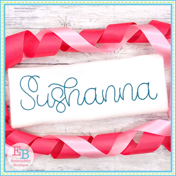 Sushanna Bean Stitch Embroidery Font