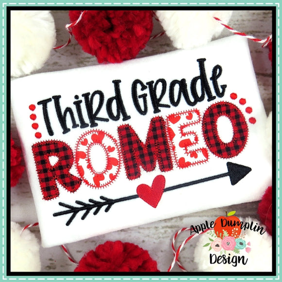 Third Grade Romeo Zigzag Applique Design