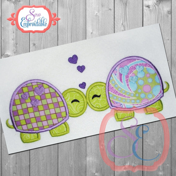 Turtle Love Applique