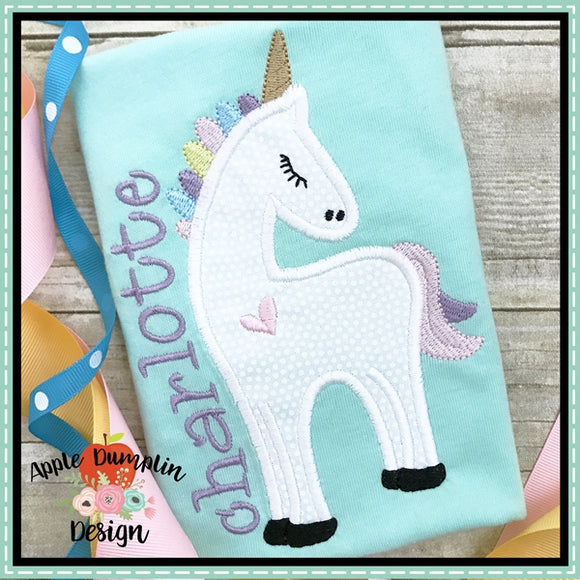 Unicorn Applique Design, applique