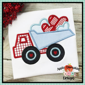 Valentine Dump Truck Applique Design Embroidery Boutique