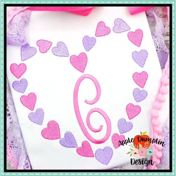 Heart Frame Embroidery Design