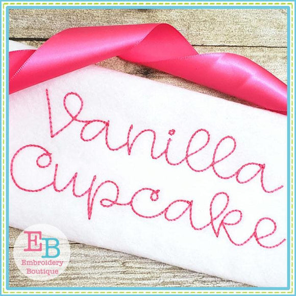 Vanilla Cupcake Embroidery Alphabet - Embroidery Boutique