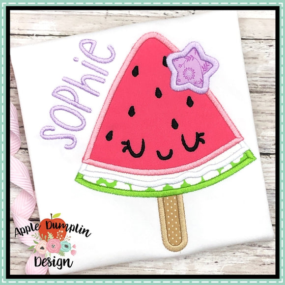 Watermelon Popsicle Applique Design