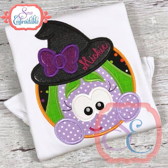 Witch Circle Applique