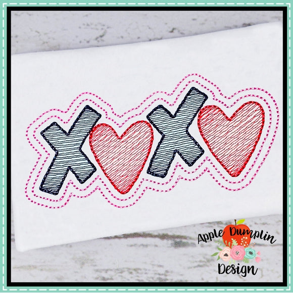 XOXO Sketch Embroidery Design