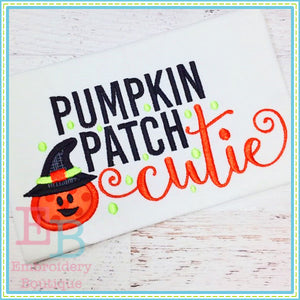 Pumpkin Patch Cutie Applique, Applique