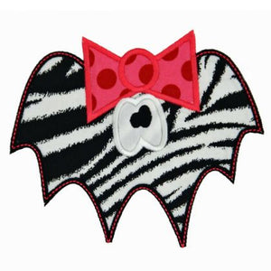 Girly Bat Applique - embroidery-boutique