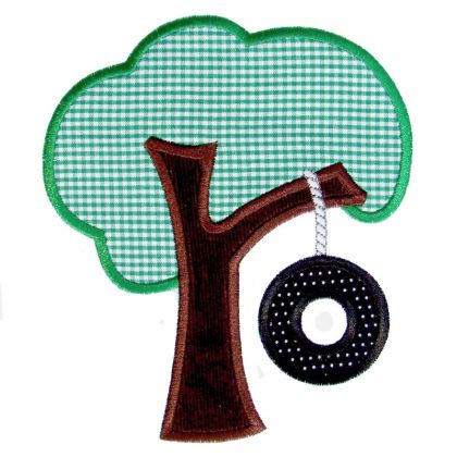 Tire Swing Applique - embroidery-boutique