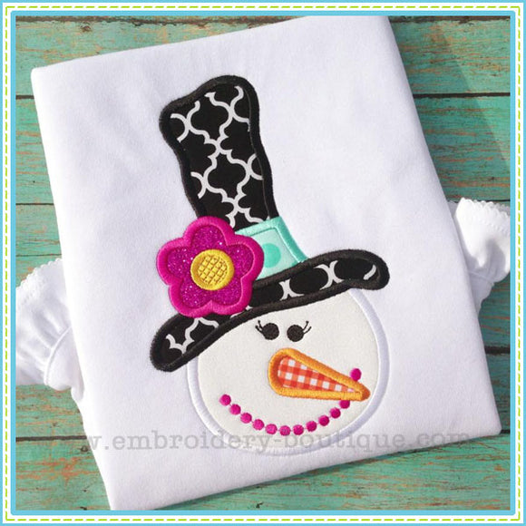 Snowlady Applique - embroidery-boutique