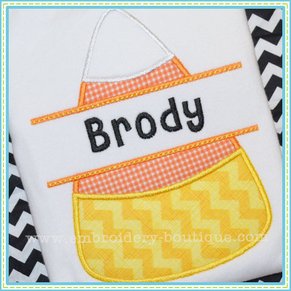Split Candy Corn Applique - embroidery-boutique