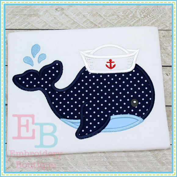 Sailor Whale Applique - embroidery-boutique