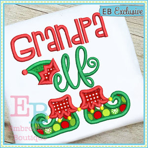 Grandpa Elf Applique, Applique