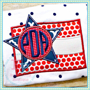 Monogram Flag Applique - embroidery-boutique