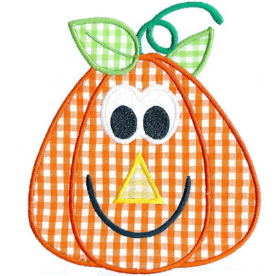 Pumpkin Head Applique - embroidery-boutique