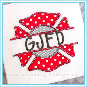 Split Maltese Cross Applique, Applique