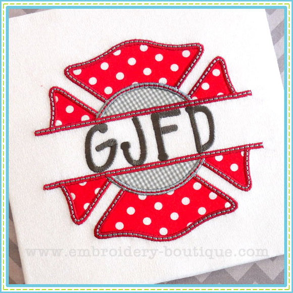 Split Maltese Cross Applique - embroidery-boutique