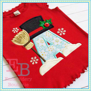 Snowman Applique Alphabet - embroidery-boutique