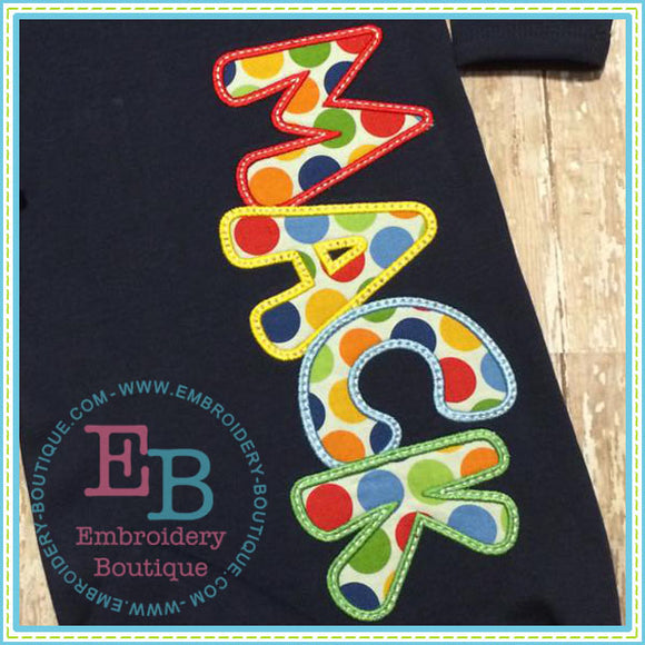 Satin Bubble Gum Applique Alphabet - embroidery-boutique