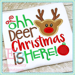 Oh Deer Boy Applique - embroidery-boutique