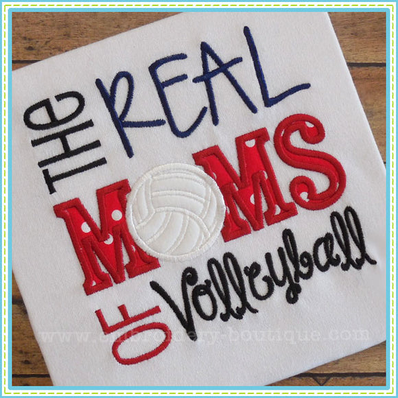 Real MOMS of Volleyball Applique